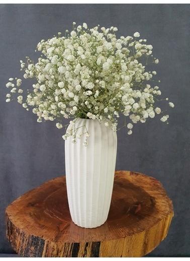 Kuru Çiçek Deposu Kuru Çiçek Şoklanmış Cipso Mavi 45 Cm Beyaz